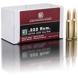 RWS .222R 3,4g MJ 2312635 Golyós Lőszer