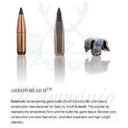 Sako 7mmRM 9,7g 407B Arrowhead II Golyós Lőszer