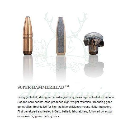 Sako .308W 10,1g 225A Super Hammerhead Golyós Lőszer