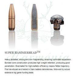 Sako 7,62x53R 10,1g 225A Super Hammerhead Golyós Lőszer
