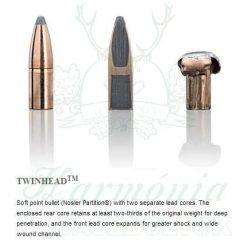 Sako .338WM 16,2g 450F Twinhead Golyós Lőszer