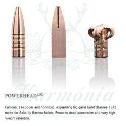 Sako 9,3x62 16,2g 477D Powerhead Golyós Lőszer
